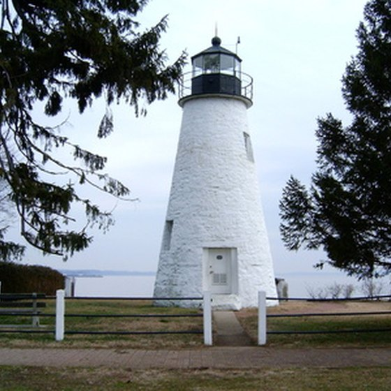 Campers can enjoy historic lighthouses that sit on the shores of Lake Michigan.