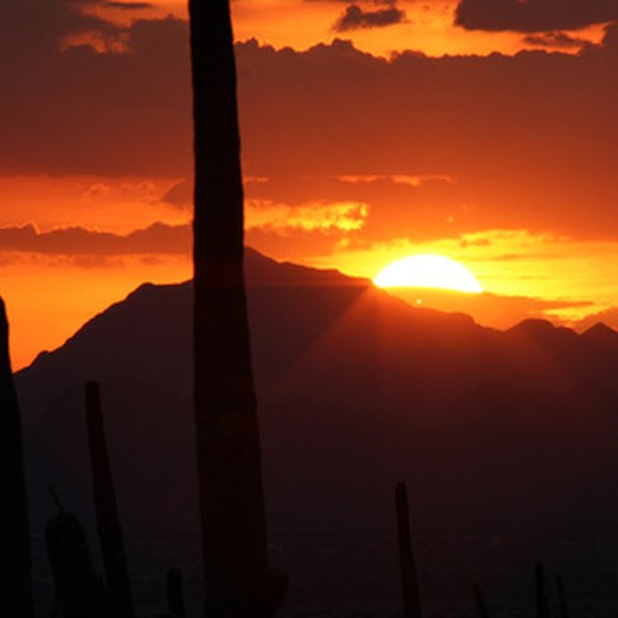 Tucson's Catalina Mountains provide sunset views from North Oracle Road.