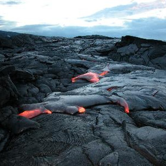 Molten lava is an accepted part of the Hawaiian landscape.