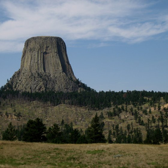 Hulett, Wyoming, lies nine miles north of Devils Tower National Monument.