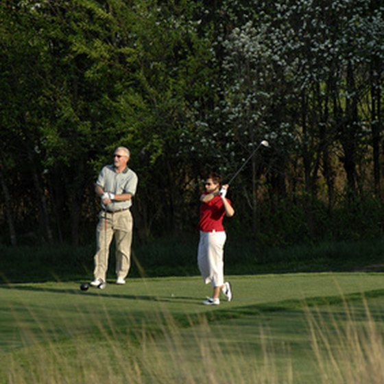 Couples golf getaways are available in many locations.
