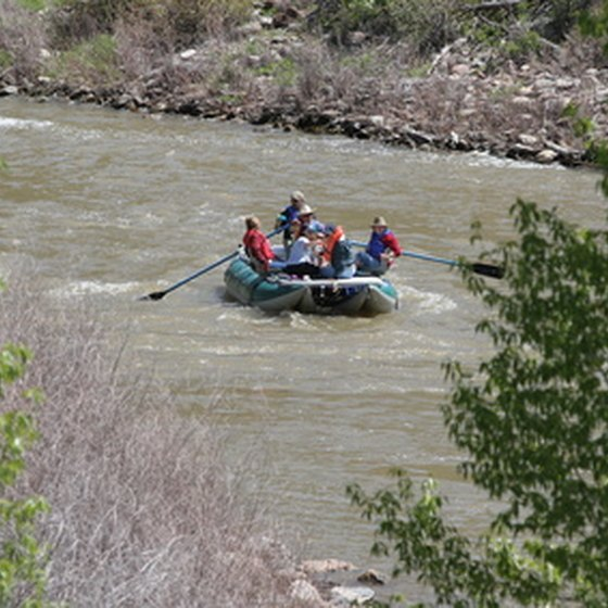 The Colorado River is a popular whitewater rafting destination.