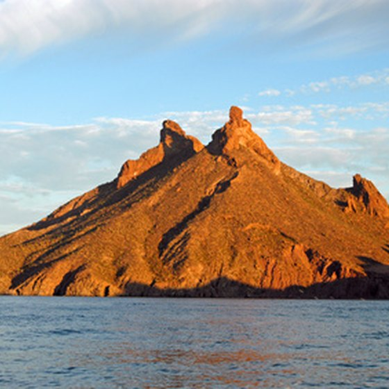 San Carlos Mountain sits just west of San Carlos, Mexico, on the Sea of Cortez.