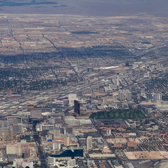 Las Vegas from the air