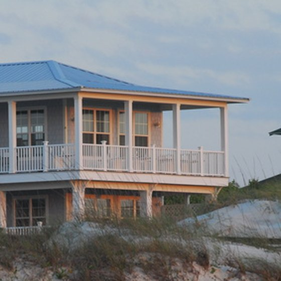 Beachfront vacation villas are among the accomodations at North Myrtle Beach.