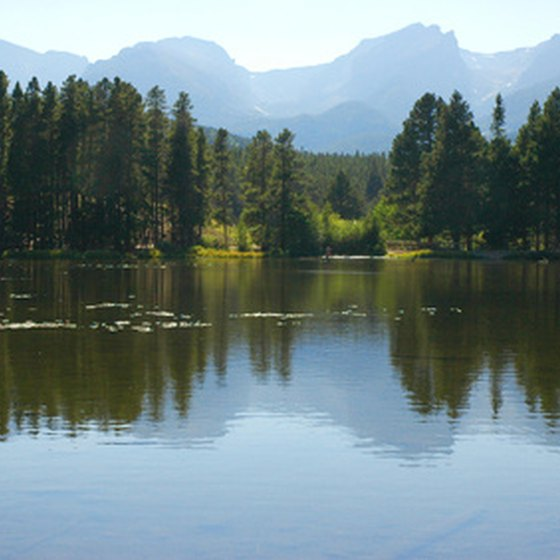 A lake in Rocky Mountain National Park