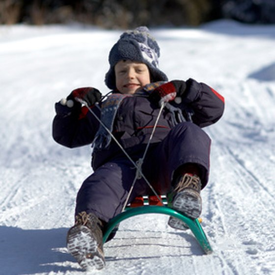 Sledding comes in many forms in Winter Park, Colorado.