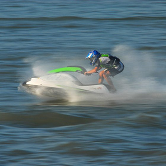 Jet skiing is popular on Laughlin's Colorado River.