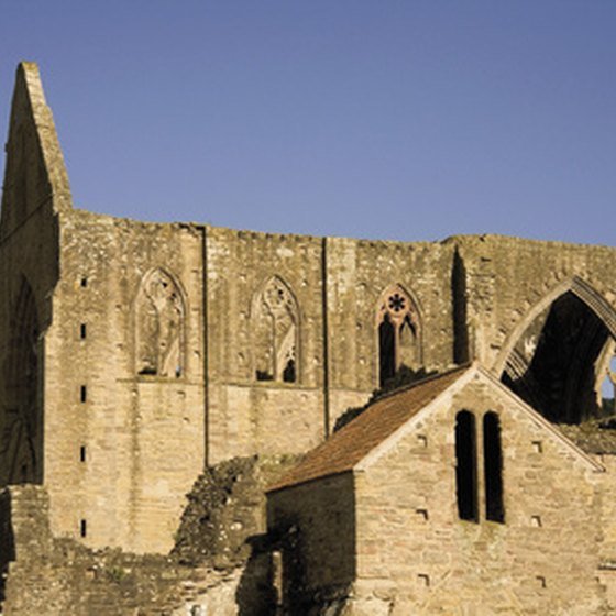 Visit Tintern Abbey in Wales.