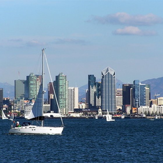 The harbor of San Diego, California