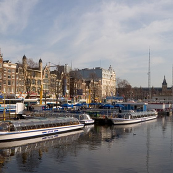 Amsterdam has many navigable canals.