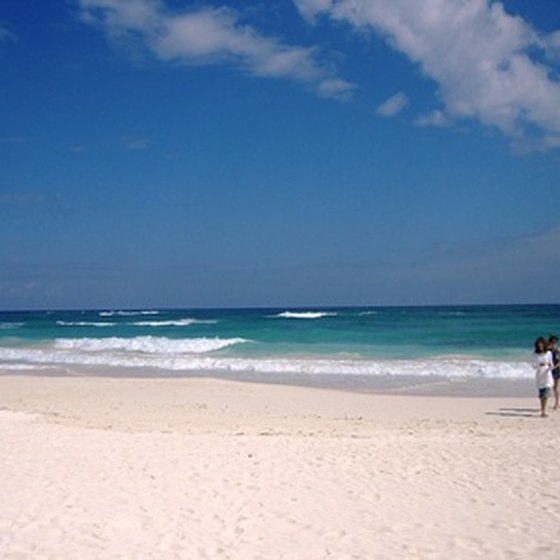 White sand beaches attract visitors to Cancun.