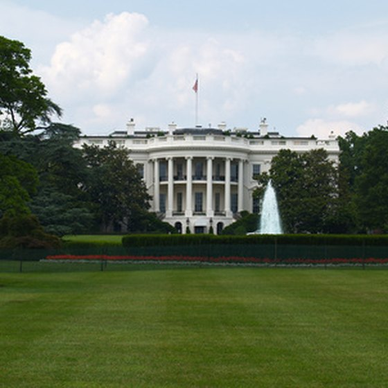 A view of the White House.
