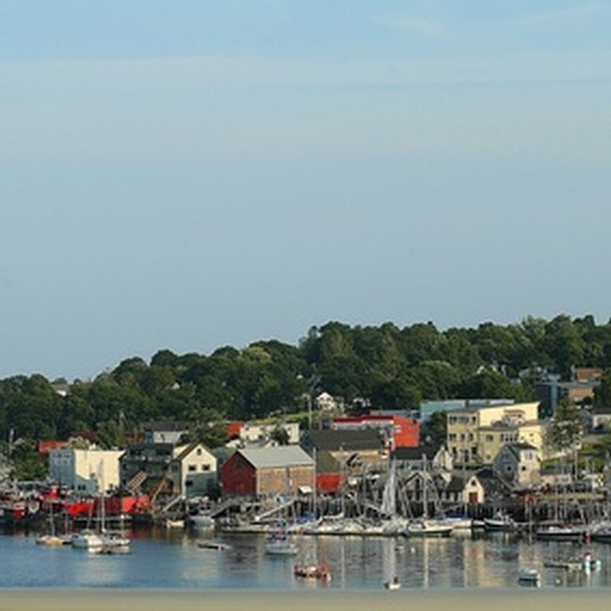 A harbor in Maine