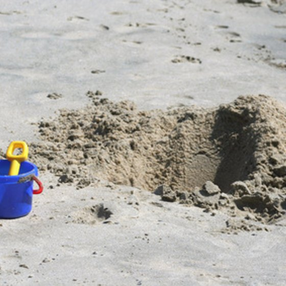 Your resort may offer sand toys for your kids to use.