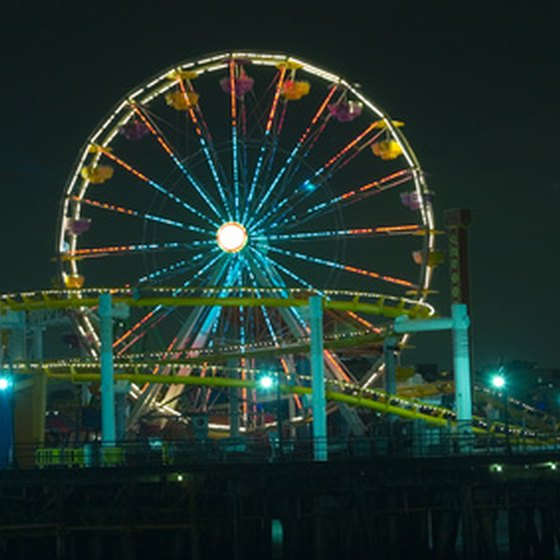 Santa Monica's Pacific Park area is very popular with young adults.