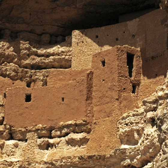 Travelers came by carriage and horseback to behold Montezuma's castle in the mid-1800s.