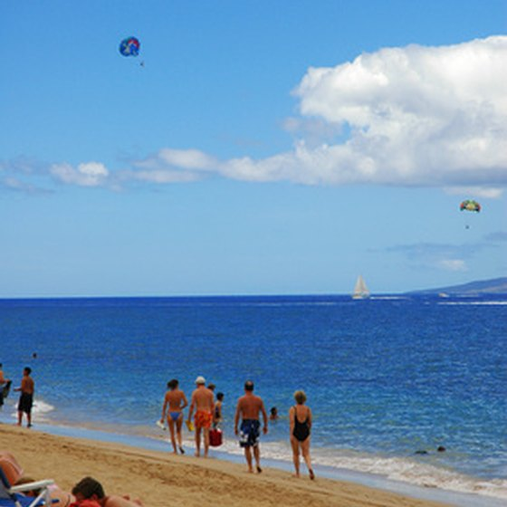 South Maui offers long stretches of beach.