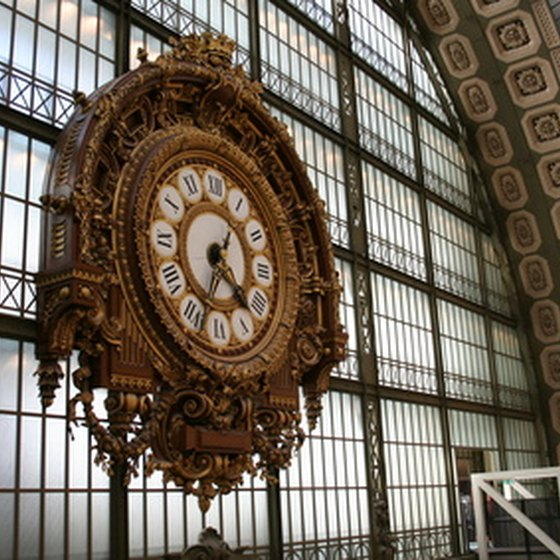 The Musee d'Orsay in Paris is one of many art museums located throughout France.