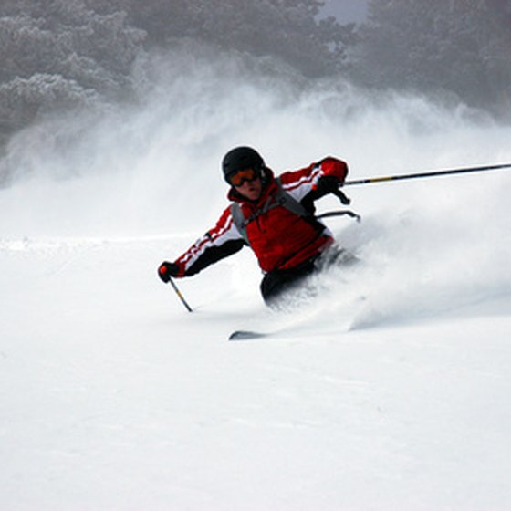 Many people come to Medford in the winter to ski.