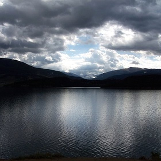 Lake Dillon offers scenic views.