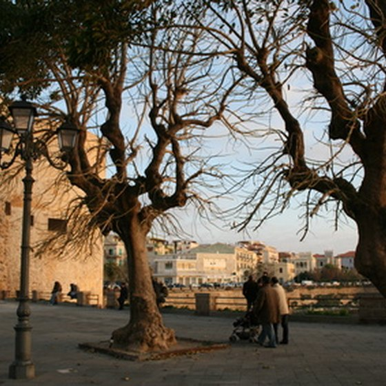 Alghero is a popular Mediterranean holiday destination.