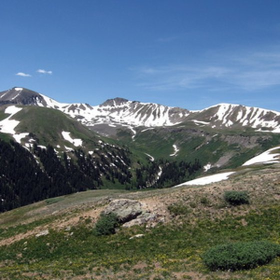 The Rocky Mountains in Colorado are famous for their great skiing.