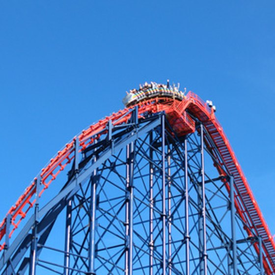 Theme park fans will find thrills aboard the roller coasters of Six Flags Over Georgia.