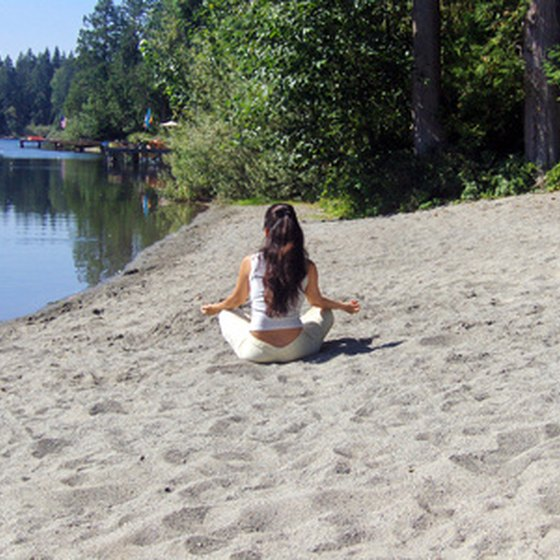 A beach can be a great place for meditating.