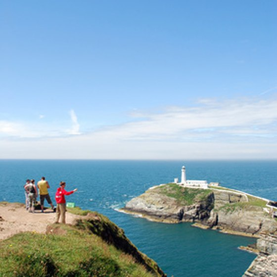 Your family can explore the Welsh coast.