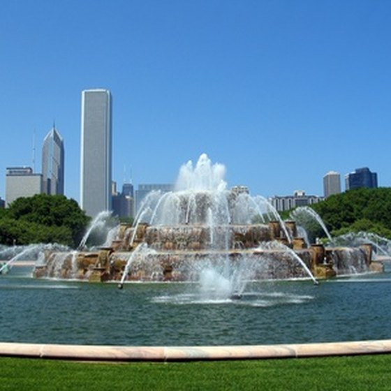 Buckingham Fountain in Chicago's Grant Park
