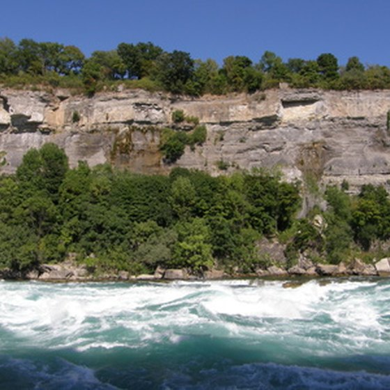 The Niagara River is treacherous below the falls.