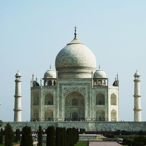 Business travelers often include time for tourist sites like the Taj Mahal.