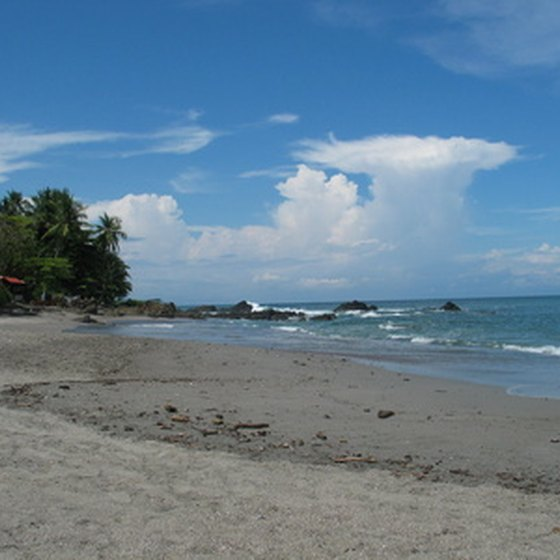 A secluded Costa Rican beach.