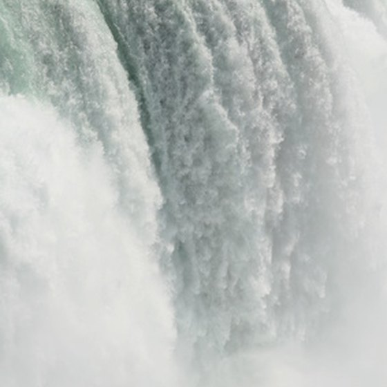 Niagara Falls dumps about 40 million gallons of water a minute.
