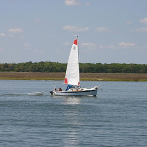 A sailboat in St. Augustine, Florida