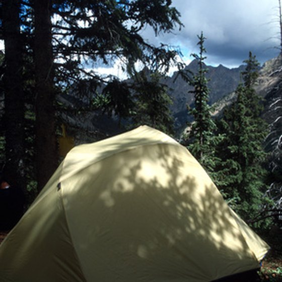 Tent camping and RV camping sites are available near Cherokee, NC in the Great Smoky Mountains National Park.