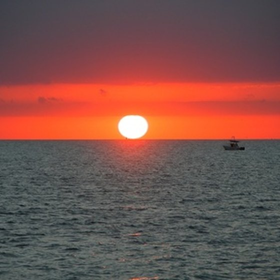 The Florida Keys are known for beautiful sunsets.