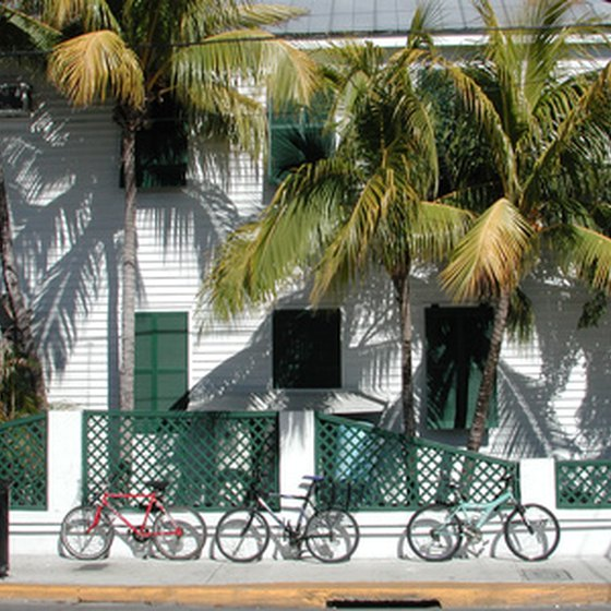 Bicycling around town is one of Key West's many tourist activities.