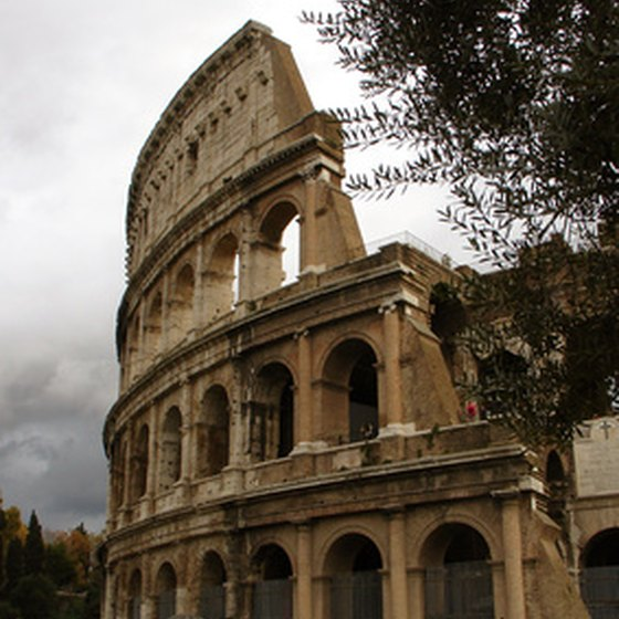 The Colosseum is a popular site in Rome.
