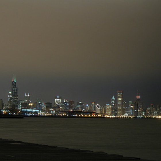 View of the Chicago Skyline from Lake Michigan