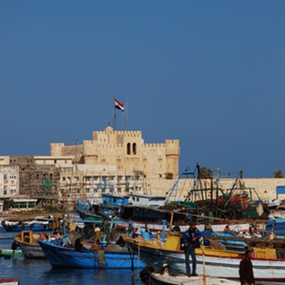 Alexandria's fortified harbor.