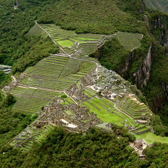 Imagine this view from a helicopter as you tour Machu Picchu.