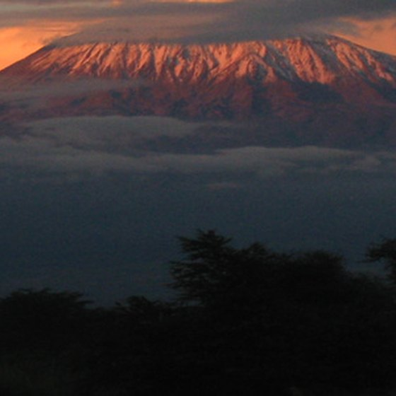 Mount Kilimanjaro towers over Tanzania's border with Kenya.