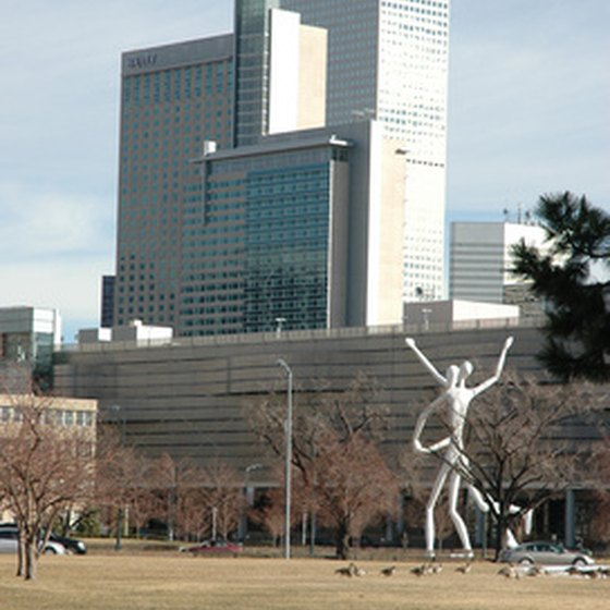 Sunny downtown Denver offers several modern hotels.
