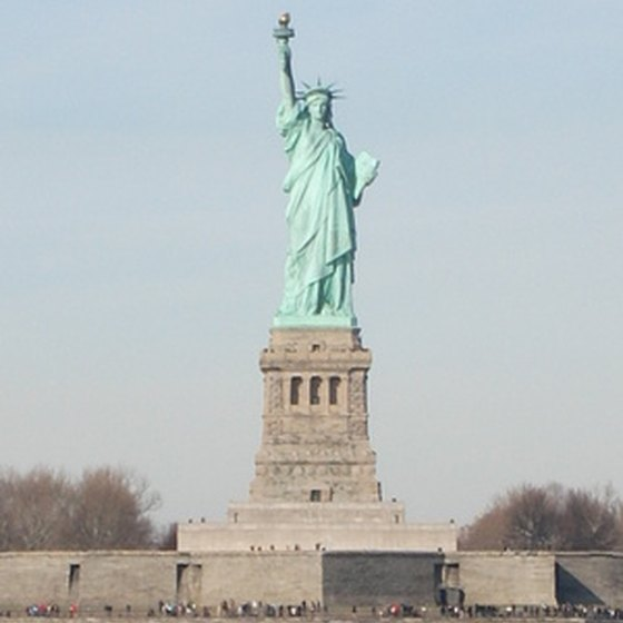The Statue of Liberty resembles Libertas, the Roman goddess of freedom.