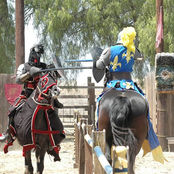 Check out knights like these at Medieval Times in New Jersey.