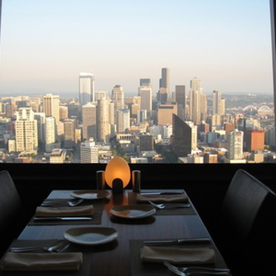 A view of Seattle from the Space Needle Restaurant.