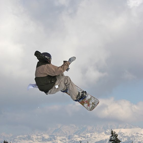 Getting some air at a California ski resort.