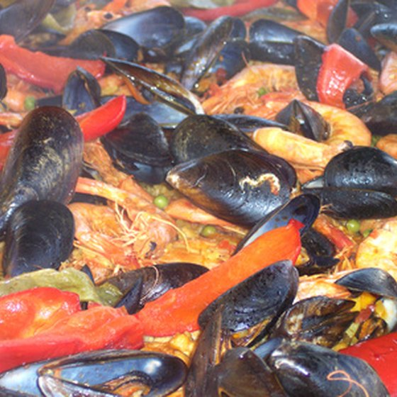 Paella celebrates the bounty of Spain's oceans and farms